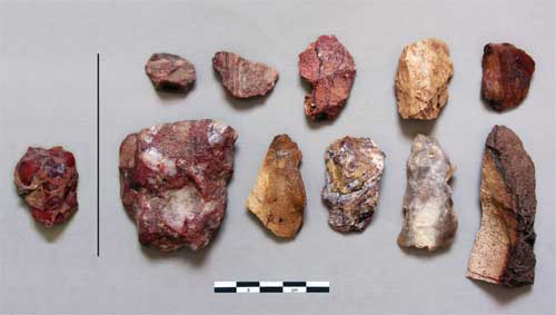 MSA exotic flakes from Rhino Cave, figure 5 from Coulson et al. 2011