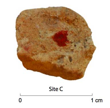 Red ochre droplet from Roebroeks et al 2012 supplement