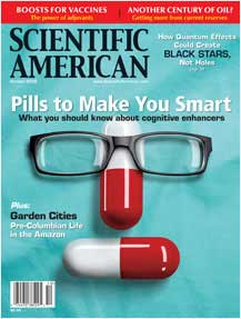 Scientific American cover with glasses
