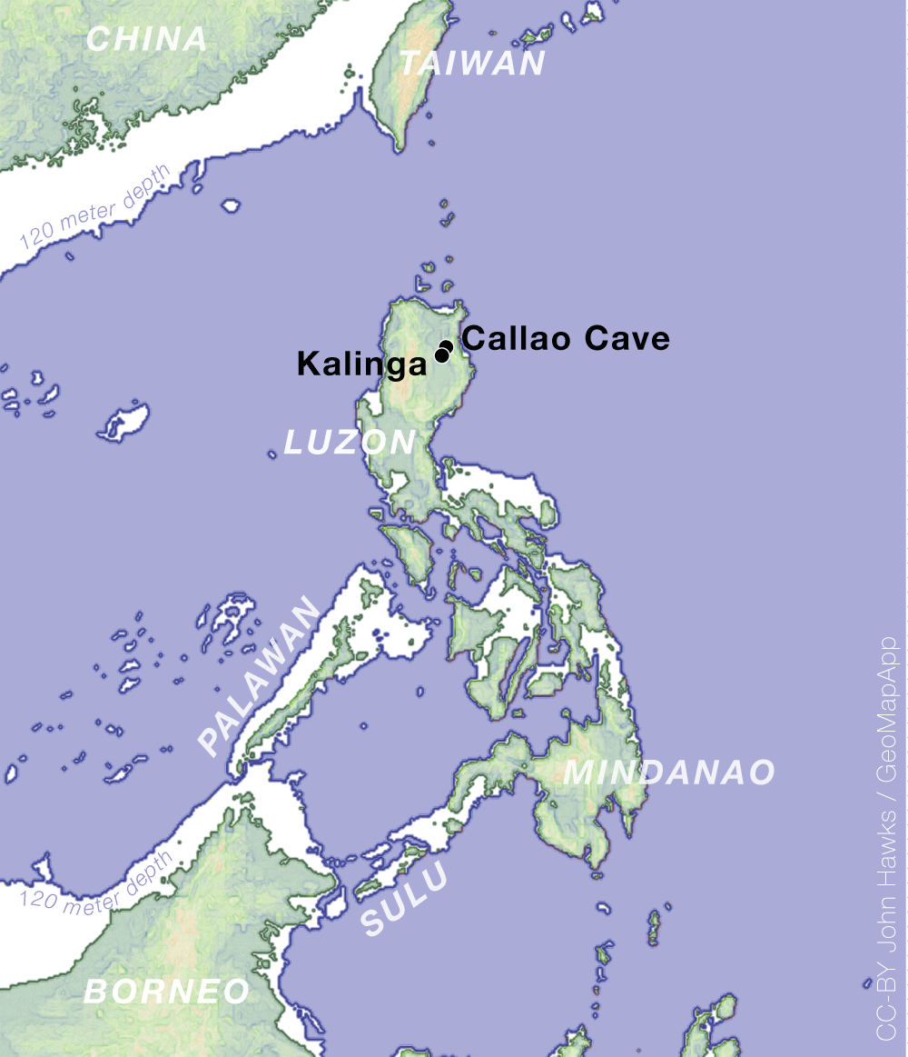 Philippines ancient sea level map