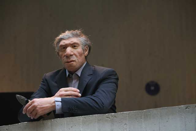 Neandertal in a suit